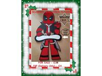 PERFECT CHRISTMAS GIFT, HANDMADE DEADPOOL MDF DOOR/WALL PLAQUE, READY TO HANG AN NAME ADDED!