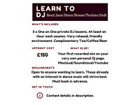DJ LESSONS - Relaxed and friendly Dj tuition