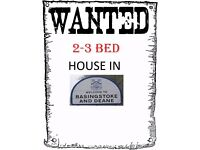 Wanted 2-3 Bed Flat/House in Basingstoke for 3 Months (Preferred Area - Chineham)