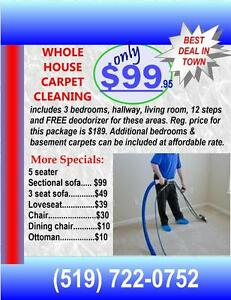 Carpet cleaning specials - Kitchener, Waterloo, Cambridge areas Kitchener / Waterloo Kitchener Area image 1