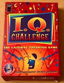 LAGOON GAMES IQ CHALLENGE LATERAL THINKING GAME. OVER 100 PUZZLES.