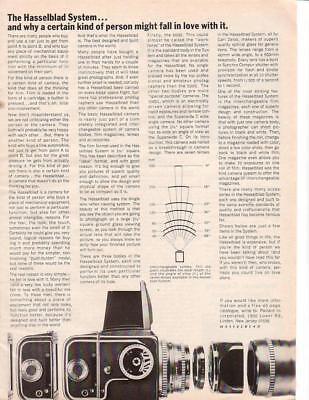 1967 Hasselblad 500C Camera Ad