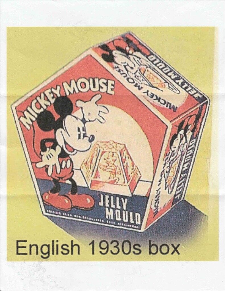 1930s Mickey Mouse Box. Original box for jelly moulds.