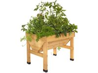 VegTrug 1m Small Wood Seater Natural - New in Retail Box