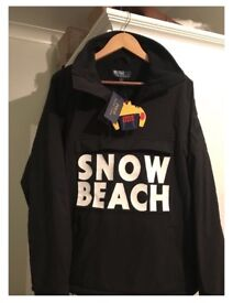 RALPH LAUREN SNOW BEACH THE PULLOVER BLACK & WHITE - SIZE SMALL - IN HAND