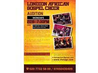 The London African Gospel Choir Audition