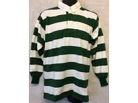 "Mens Stripe Long Sleeve Rugby Jersey Polo Shirt Top Size 40"" (#4847)"