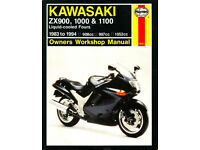 HAYNES KAWASAKI ZX900, 1000 & 1100 LIQUID COOLED FOURS 1983 - 1994