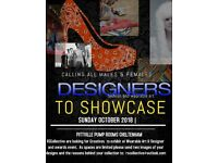 creative designers needed for fashion event 28th October 2018