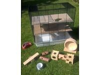 Luxury Hamster Cage with Accessories