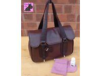 RADLEY - Medium Brown Leather Satchel Bag *Rare Find - Excellent Condition*