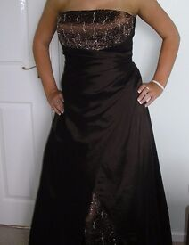 Chocolate brown prom/bridesmaids dress size 12