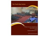 Venue for hire / Hall for hire / Wedding venue / Party venue / Event space / Church Halls