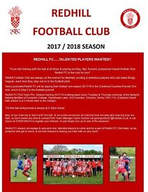Next Redhill FC 1st Team Trials- Tues 27th June 6.30pm at Coulsdon College!