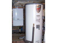 Boiler installer, hot water cylinder mega flow unvented specialist plumber - central, grater London