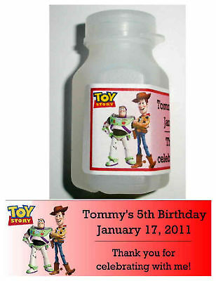30 TOY STORY BIRTHDAY PARTY FAVORS BUBBLE LABELS (Bubble Birthday Party)
