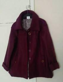 Anne De Lancay ladies purple coat