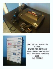 SEGA MASTER SYSTEM + MEGA DRIVE + GAMES + CONTROLLERS + XBOX + PS3