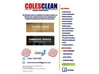 COLESCLEAN Cleaning services provided from general services through to deep clean