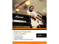Guitar Lessons with Native Sound (Beginner, Intermediate & Advanced)