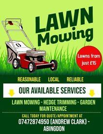 Lawn mowing - Abingdon