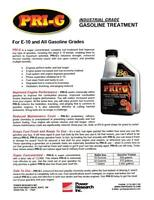 PRI-G Gas, Fuel Restorer/Conditioner Treatment