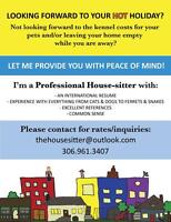 HOUSE/PET SITTER FOR HIRE