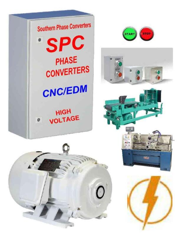 50 Hp Rotary Phase Converter-- Totally Enclosed Rotary Motor Digital Controlled