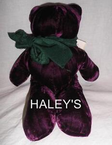 Pottery-Barn-Noel-Bear-Holiday-Christmas-Gift-Dark-Purple-Buckwheat-Fragrance