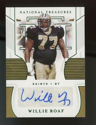 2020 National Treasures Green Willie Roaf 3/6 Auto Autograph