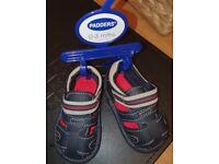 Brand new padders boys navy smart sandal 0-3 months