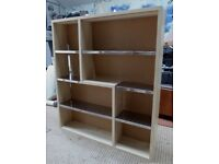 Small Wooden Bookcase/ Display Unit- needs slight repair