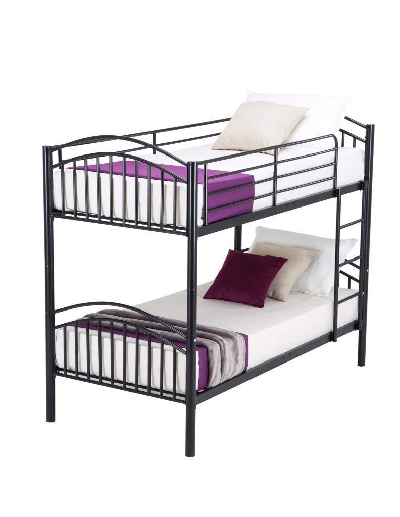 Metal Single Bunk Bed Frame Cane Be Used As Two Singles In