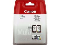 Genuine Canon Ink Cartridges PG-545 and CL-546