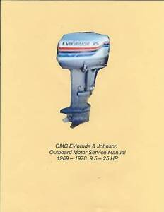 Early EVINRUDE & JOHNSON 9.5-25 HP Outboard Service Manual '69-'78