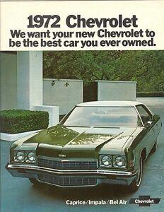 1972 Chevrolet FS Sales Brochure Caprice/Impala/Bel Air