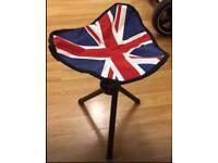 It's 3 legged folding tripod stool