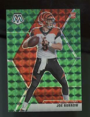 2020 Panini Mosaic Green Prizm #201 Joe Burrow RC Rookie