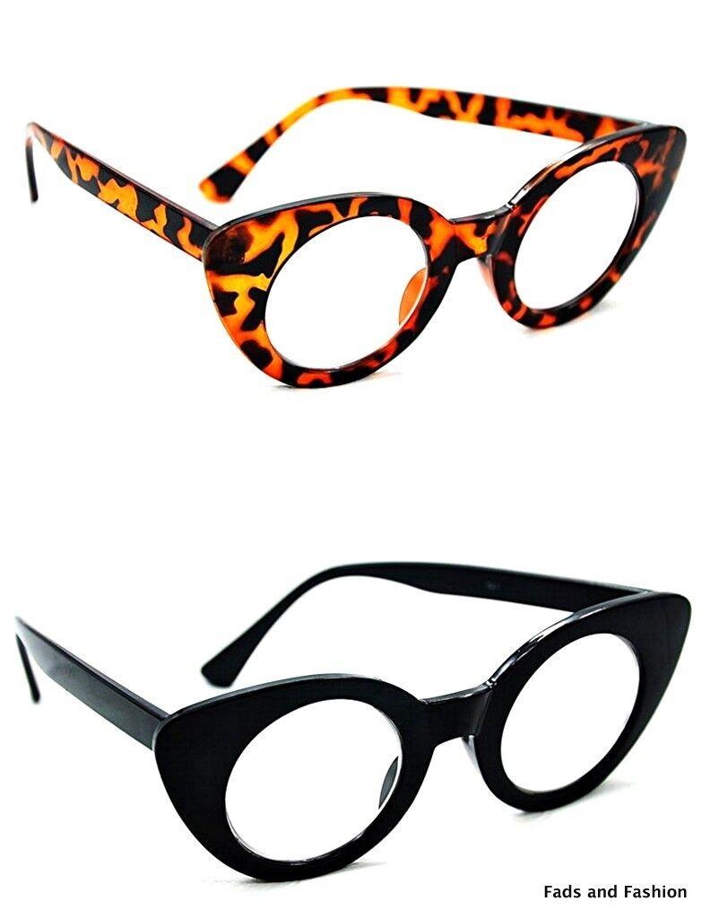 GF63 Art Déco Katzenaugen Brillengestell, Klarglas Brille ...