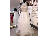 Tiffany's Ivory prom dress brand new current season suit wedding , birthday size 8
