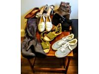 MIXED BUNDLE SIZES 4 & 5s BARGAIN LOT SHOES COLLECTION AS NEW BARGAIN..