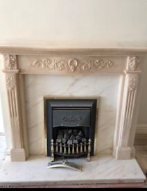Marble Fire Surround - Mantel Piece - High Quality Long Lasting Solid Surround