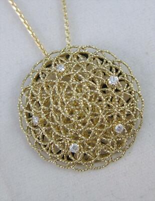 Kostüm Designer Diamant Schwebende Kreis 14k Gelbgold Runde - Kostüm Diamant Halskette