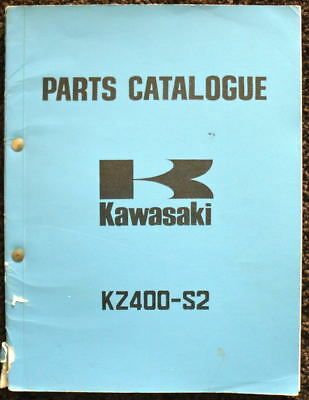 KAWASAKI RANGE 1975 MOTORCYCLE ILLUSTRATED PARTS LIST & SUPPLEMENT