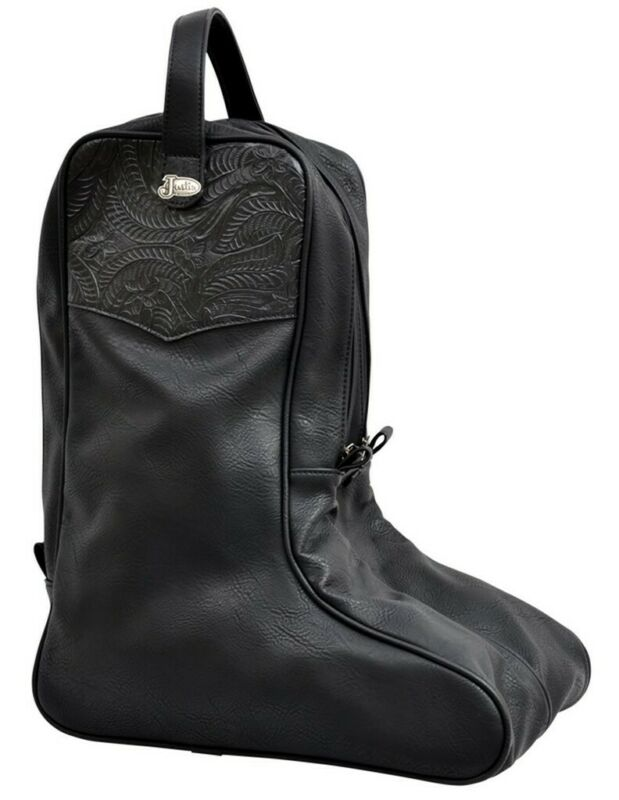 3D Western Western Boot Bag Adult Faux Leather Embossed Black DBB10