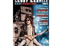 2 x tickets for Lenny Kravitz £45 Manchester 19 June 2018