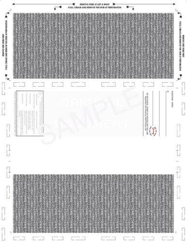 "Z-Fold Pressure Seal Check Stock 11"", White (500/pack)"