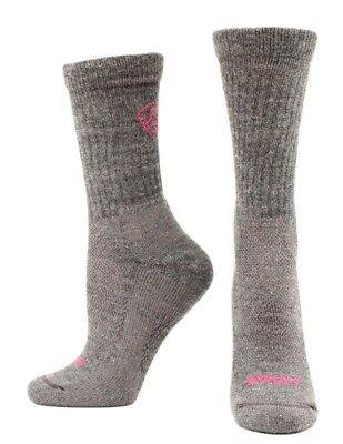Ariat Western Socks Womens Merino Hiker Mid Weight M Gray A2507006