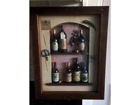 Novelty wine lovers deep framed display piece