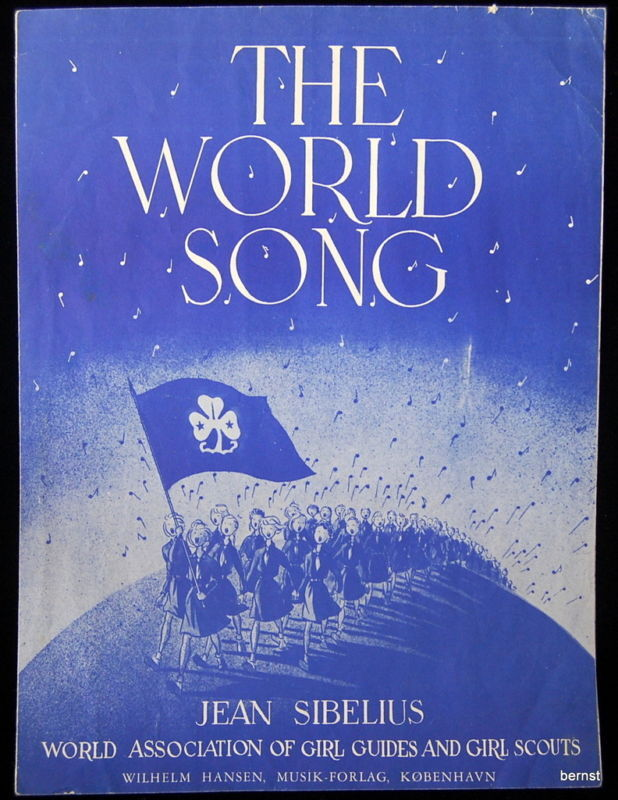 1952 GIRL SCOUT SHEET MUSIC - THE WORLD SONG